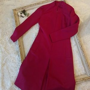Stunning Vintage Retro Mod 1960s Pink Coat Dress